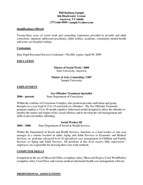 social work resume templates entry level social work resume sle entry level worker