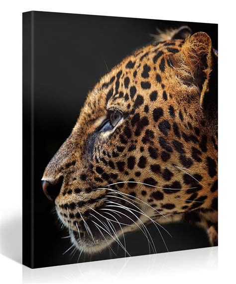 Starfish Home Decor stretched canvas print leopard print large animal wall