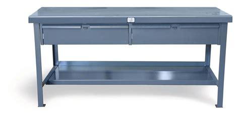 Adding Drawers To A Table by Strong Hold Products Industrial Shop Table With 2 Drawers
