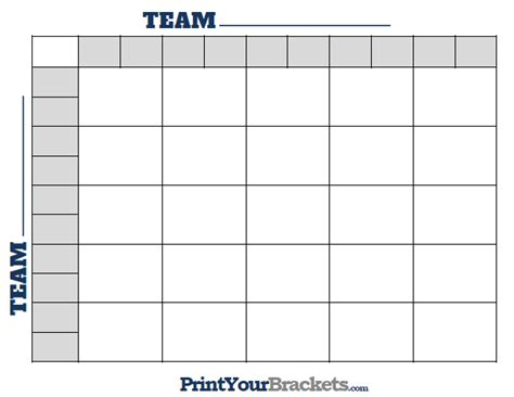 Office Football Pool 25 Squares Printable 25 Square Football Grid Template