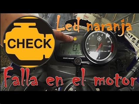 Lu Led Motor R15 como leer led naranja falla motor yamaha r15 161 f 193 cil