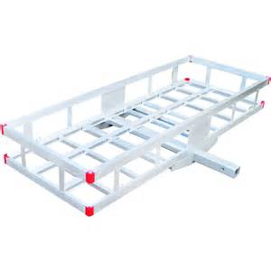 Aluminum Cargo Rack by Ultra Tow Aluminum Cargo Carrier 500 Lb Capacity 60in L X 22 1 2in W X 8in H Receiver
