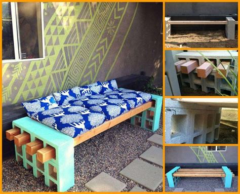 how to make your own bench create your own cinder block bench