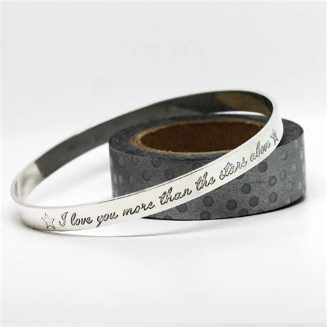 Handmade Silver Bangles Uk - personalised bangle handmade in sterling silver