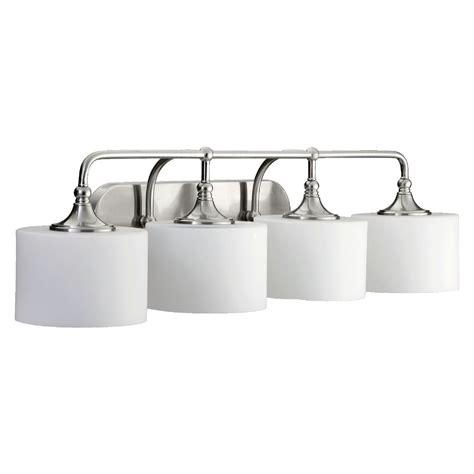 Quorum Bathroom Lighting Quorum Lighting Rockwood Satin Nickel Bathroom Light 5090 4 65 Destination Lighting