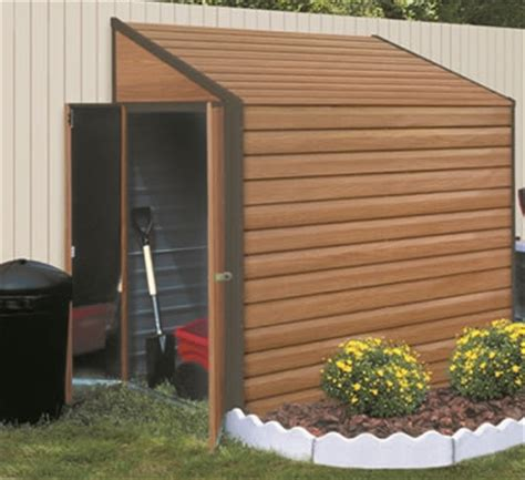 Small Outside Storage Shed Yardsaver 4 X7 Woodgrain Arrow Small Outdoor Metal