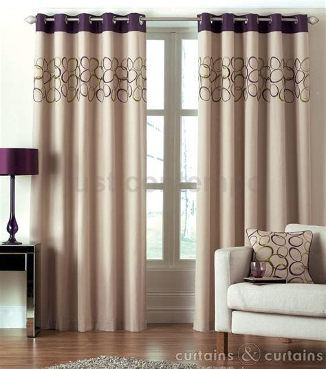 aubergine and cream curtains hoops aubergine purple lime green eyelet ring top curtain