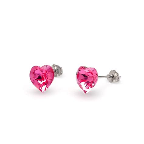 Pink Earring greed silver swarovski pink earrings