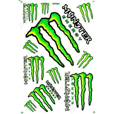 Monster Motorradhelm Aufkleber by Mrs0110 Gr 220 N M0nster Energy Aufkleber Stickers