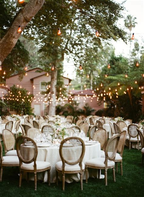Outdoor Summer Wedding Backyard Home The Interior Small Backyard Wedding Reception