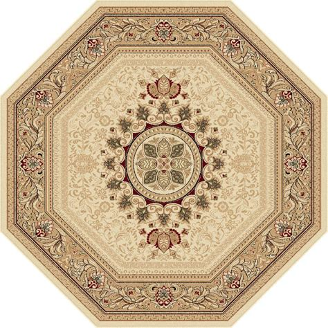 octagon rugs 5 tayse rugs sensation beige 5 ft 3 in traditional octagon area rug 4672 ivory 6 octagon the