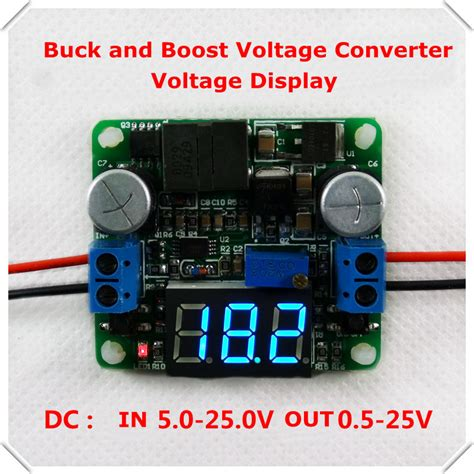 how to step dc voltage using resistors aliexpress buy 5 25v voltage display dc dc adjustable step up power supply module