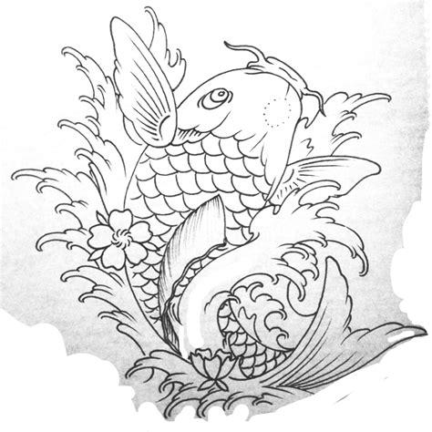 koi fish tattoo stencil japanese koi fish tattoo stencils oriental pinterest
