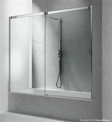 box doccia policarbonato vasche bn apertura scorrevole