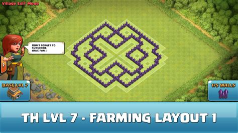 best wall pattern clash of clans clash of clans fun wall art th7 farming layout 1 youtube