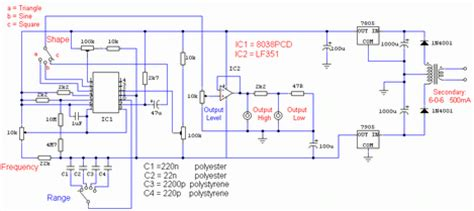 Saklar Push On Kotak Lu Dc cara membuat skema rangkaian audio function generator afg