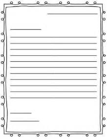 Friendly Letter Writing Paper Free Letter Writing Outline Paper Great For A Friendly