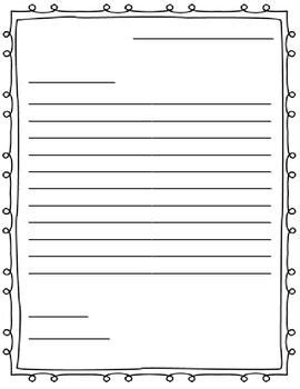 Free Letter Writing Outline Paper Great For A Friendly Letter To Get Or Copy Pinterest Letter Template With Lines