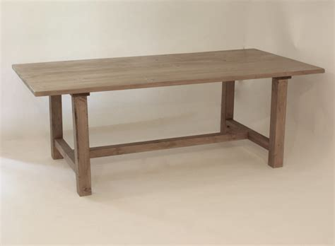 Grey Reclaimed Wood Dining Table Reclaimed Wood Honed Gray Farmhouse Style Table By West Lake Market Traditional Dining