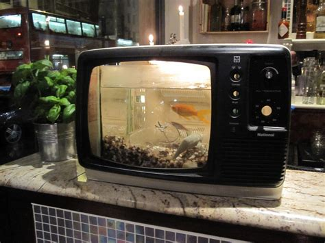 pira arredi fish tank tv in a pub i thought that this was the