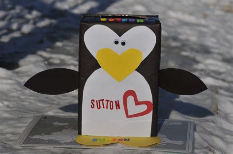 s day box penguin craft valentine s day box mommyapolis