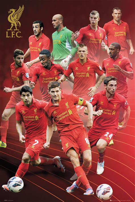 Liverpool The 12th Poster Kayu 30x22 liverpool players 12 13 poster sold at europosters