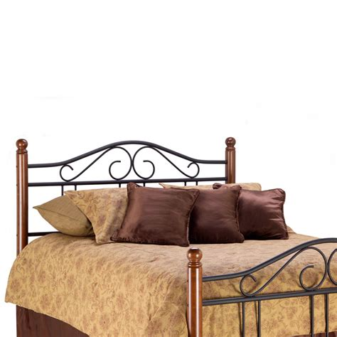Wood And Metal Headboards by Weston Iron Wood Headboard Matte Black Maple South West