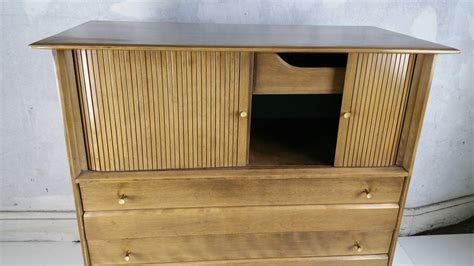 Mid Century Modern Tambor Door Chest Made By Heywood Heywood Wakefield Mid Century Modern Furniture