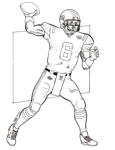 Nfl Quarterback Coloring Pages | image gallery quarterback drawings