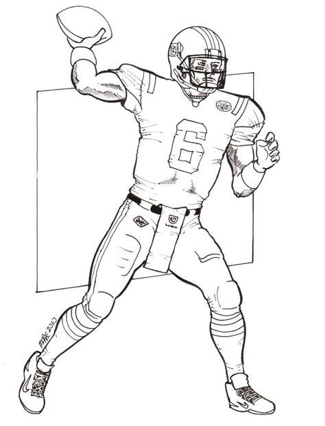 Nfl Quarterback Coloring Pages | how to draw mark sanchez