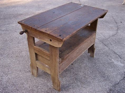 bench seat table antique primitive settle hutch table bench seat