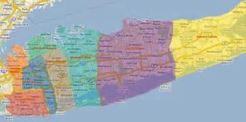 Long Island Zip Code Map by Suffolk County Asian American Advisory Board Suffolk