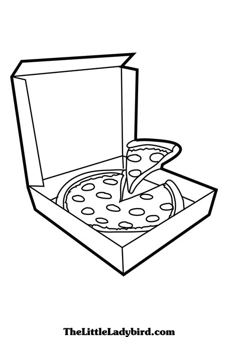 pizza coloring coloring pages