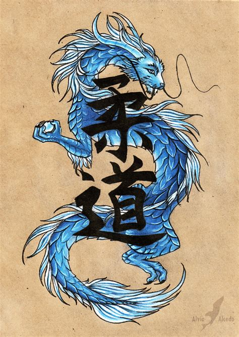eastern dragon tattoo designs blue eastern by alviaalcedo on deviantart