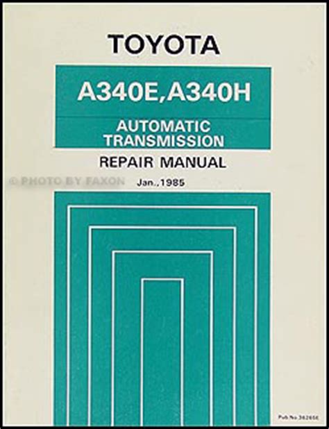 1985 toyota pickup truck 4runner repair shop manual original gasoline 1985 toyota pickup truck 4runner auto transmission repair shop manual supplement