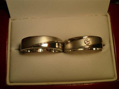Cincin Tunangan Emas 18k Berlian Eropa Asli Putih Pernikahan Murah Z14 cincin kawin wedding rings platina emas putih palladium