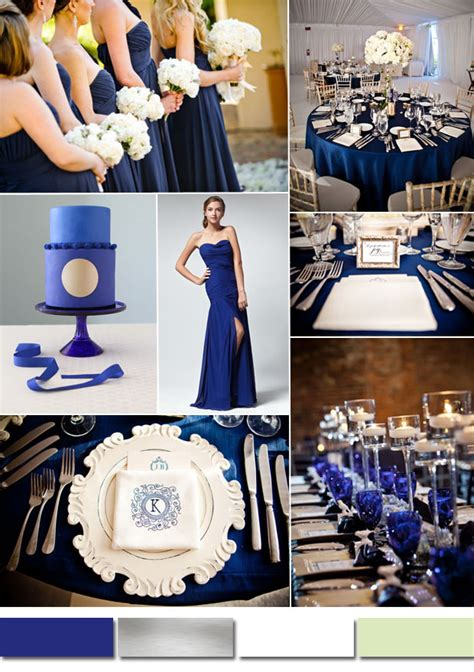 classic royal blue wedding color ideas and bridesmaid dresses tulle chantilly wedding