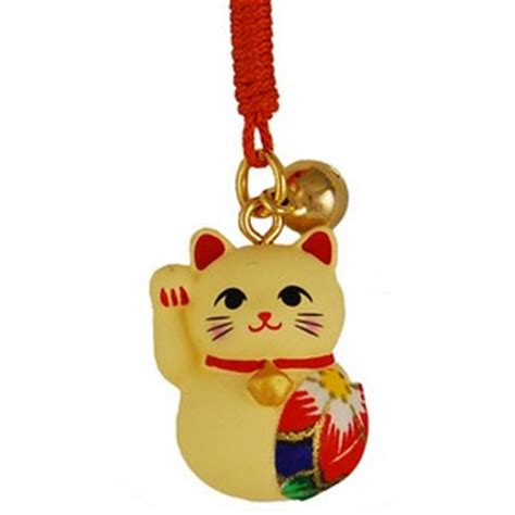 lucky cat charm with origami patch japanya