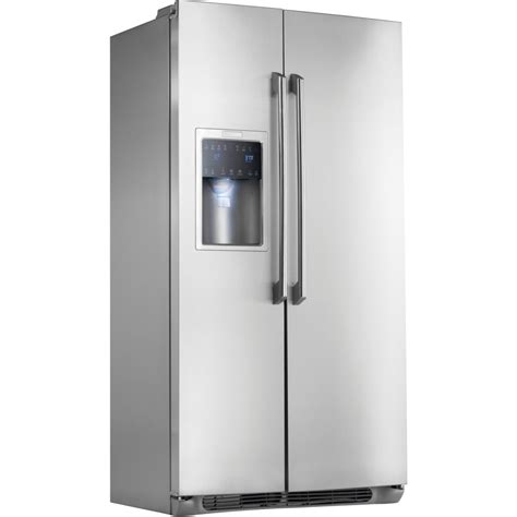 Water Dispenser Electrolux electrolux ei23cs35ks 22 6 cu ft counter depth side by side refrigerator with spillsafe glass