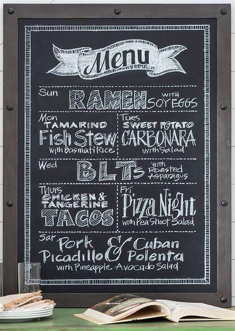 Menu Chalkboard For Kitchen by Diy Blackboard Menu Eatingwell