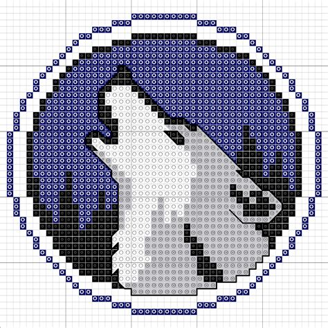 wolf perler bead pattern cross stitch kyoti makes