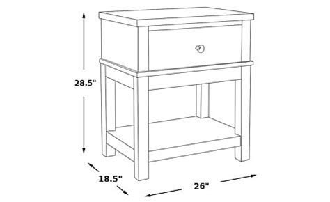 Height Of Nightstand by Home Seaside Blue Green Leg Nightstand