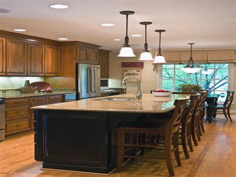 idea kitchen island five kitchen island with seating design ideas on a budget
