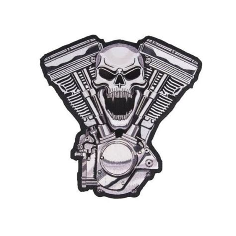 Selimut Motor Harley Davidson Skull skull v patch spaciobiker