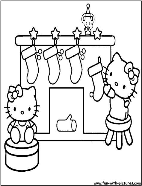 christmas coloring pages hello kitty printable hellokitty christmas coloring page