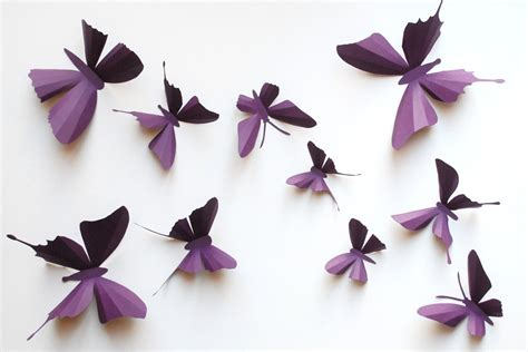 How To Make Small Paper Butterflies - 3d paper butterfly sticker wall sticker baby nursery room