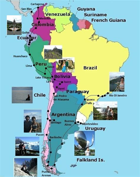 america travel map maps update 10001148 south america travel map places