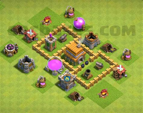 layout base coc th 3 top 14 best town hall 3 war base defense trophy