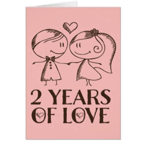 2 Year Anniversary Cards   Zazzle