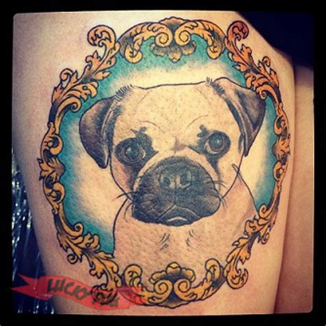 the caign pugs color pug tattoos on legs pug picture gallery designs